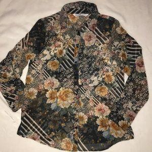 🌸 Zara floral blouse 🌸